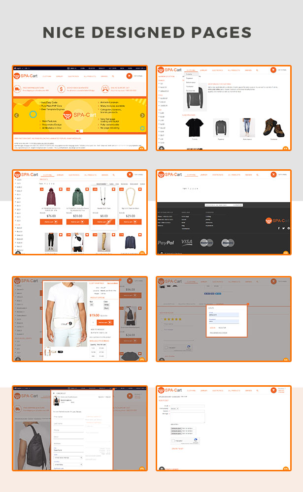 SPA-Cart - fully featured eCommerce CMS platform. Very fast ajaxfied pages. Single Page Application. - 4